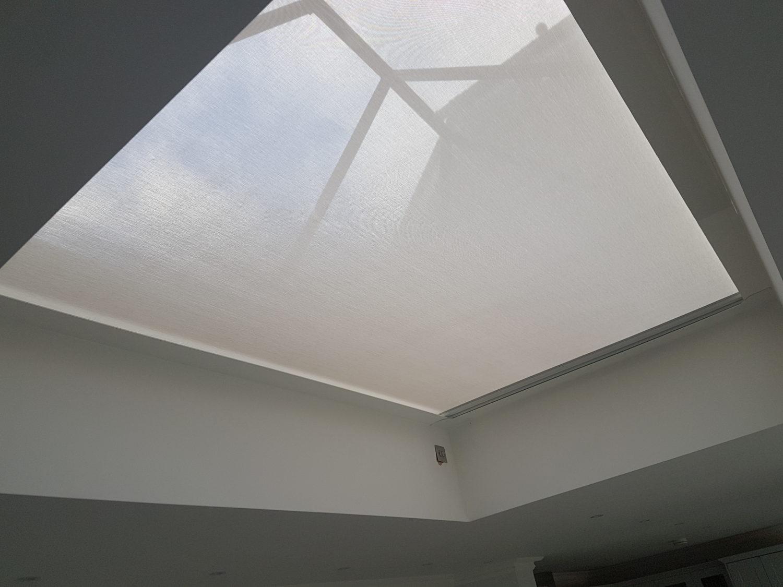 Roof Lantern Blind for orangery in Antiglare fabric