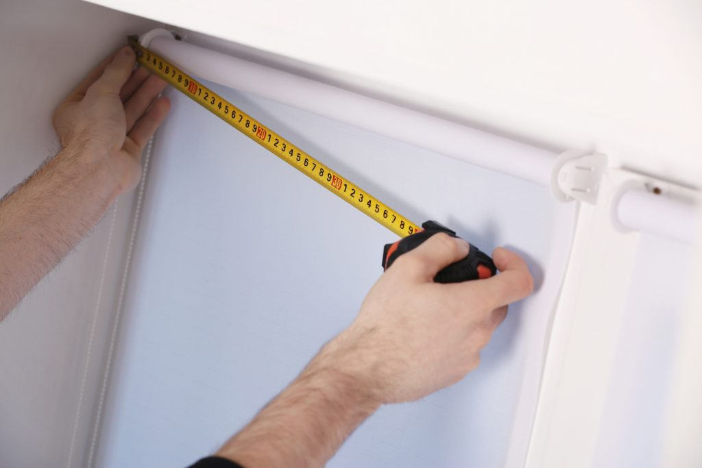 Installing blinds yourself with tape measure