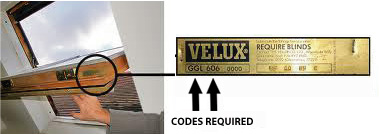 Velux product code
