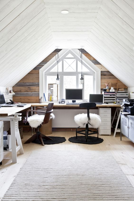 Image of a bright and airy loft conversion office space