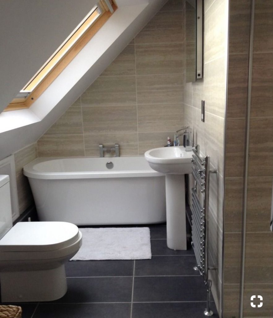 An image showing a loft conversion layout of a bathroom