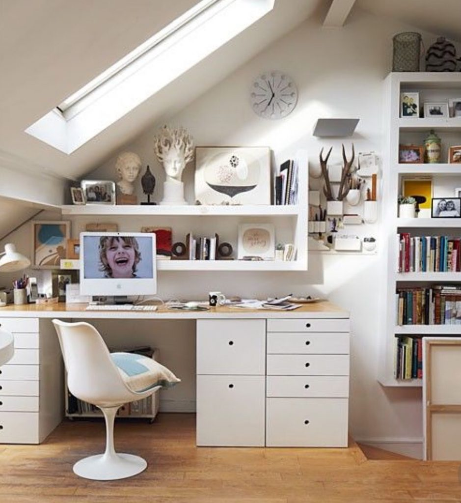 An image showing a well organise office loft conversion layout