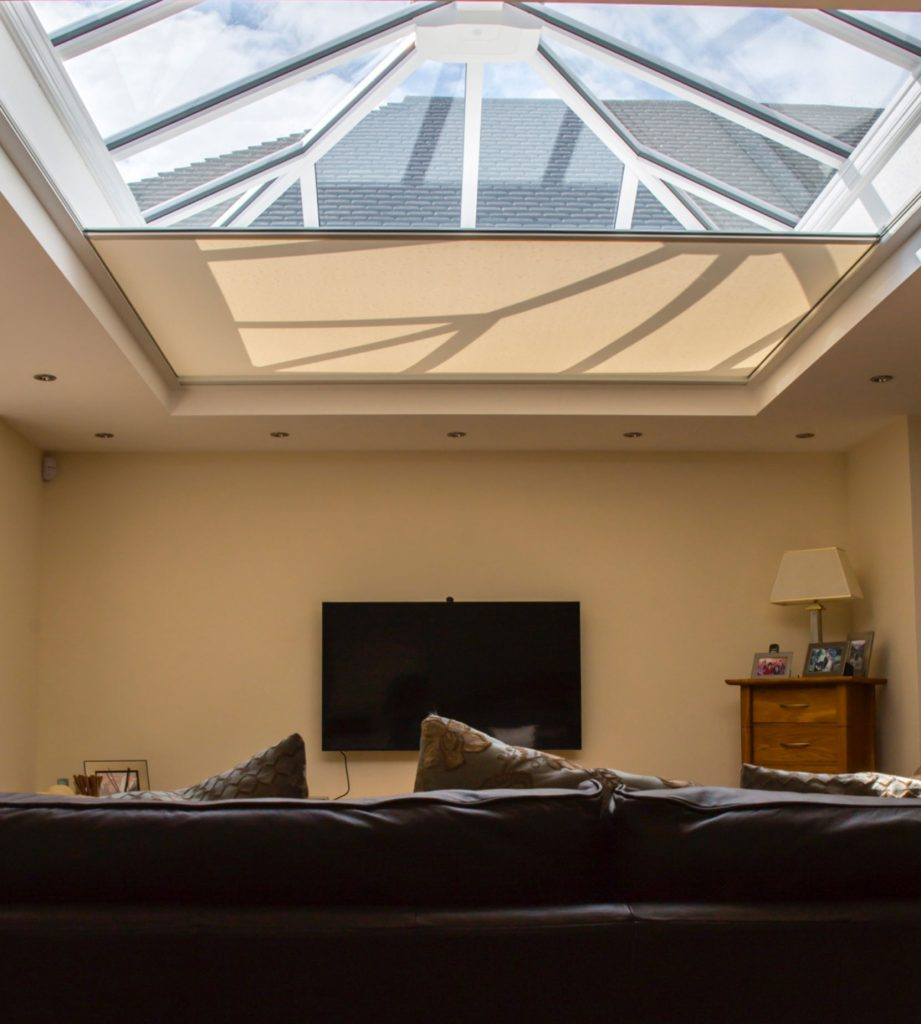 Skylight window roof lantern blinds