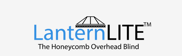 An image showing the LanternLITE Honeycomb blind logo from the Skylight Blinds Direct website