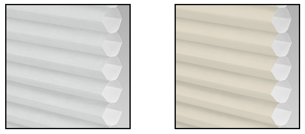 An image showing the thermal unique honeycomb material in the LanternLITE blind