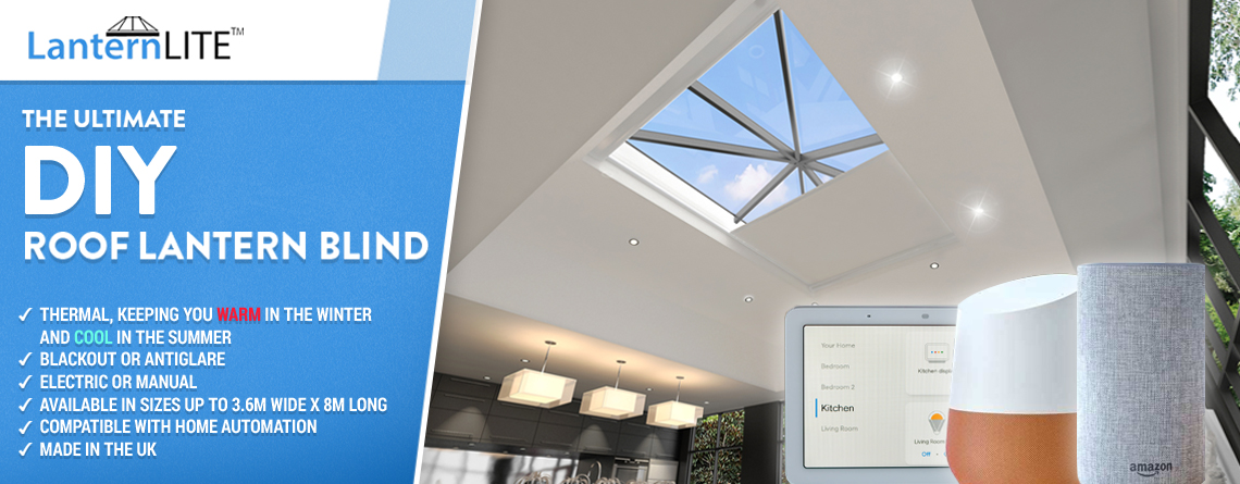 Electric roof lantern blinds