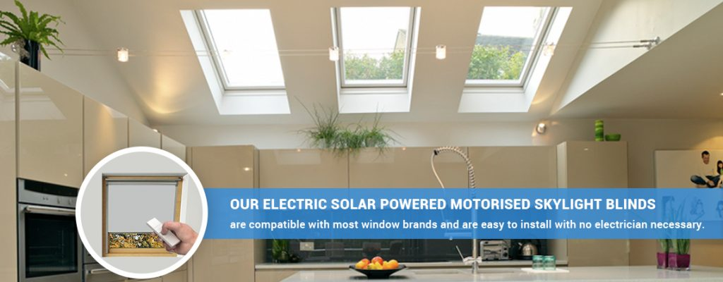 Solar powered skylight blinds from Skylight Blinds Direct