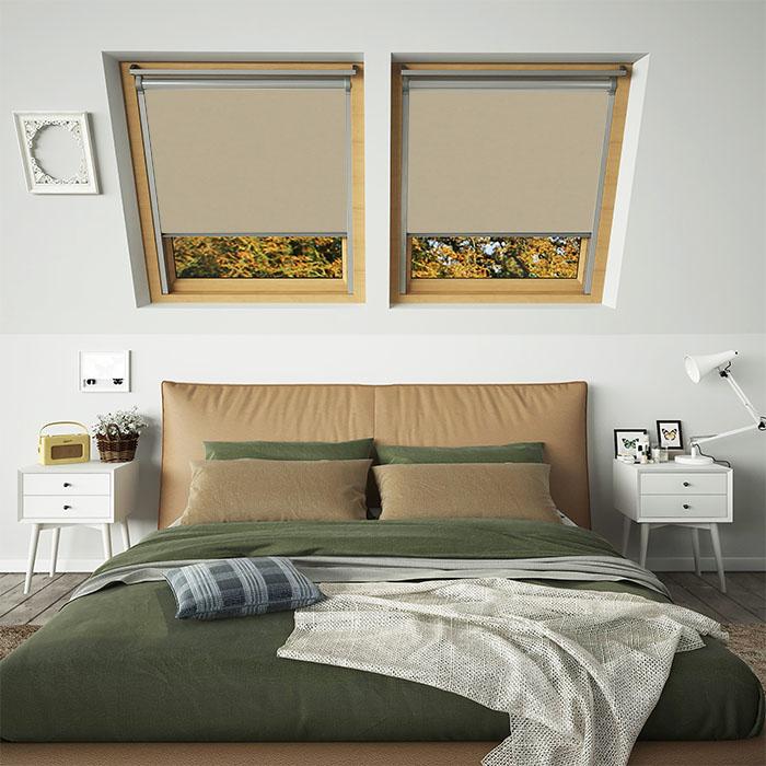 Hessian brown blackout skylight window for roof windows