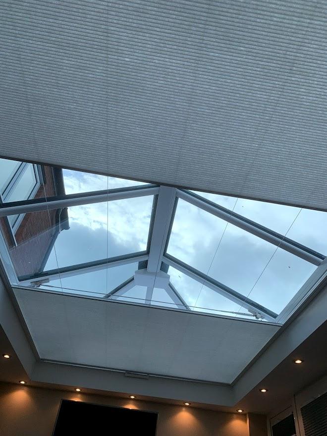 Twin Honeycomb roof lantern blind