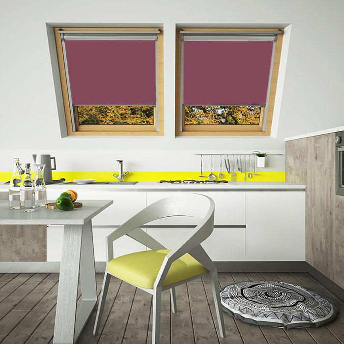 Purple Internal Skylight Blinds - Malbek Tranluscent Blinds for VELUX windows