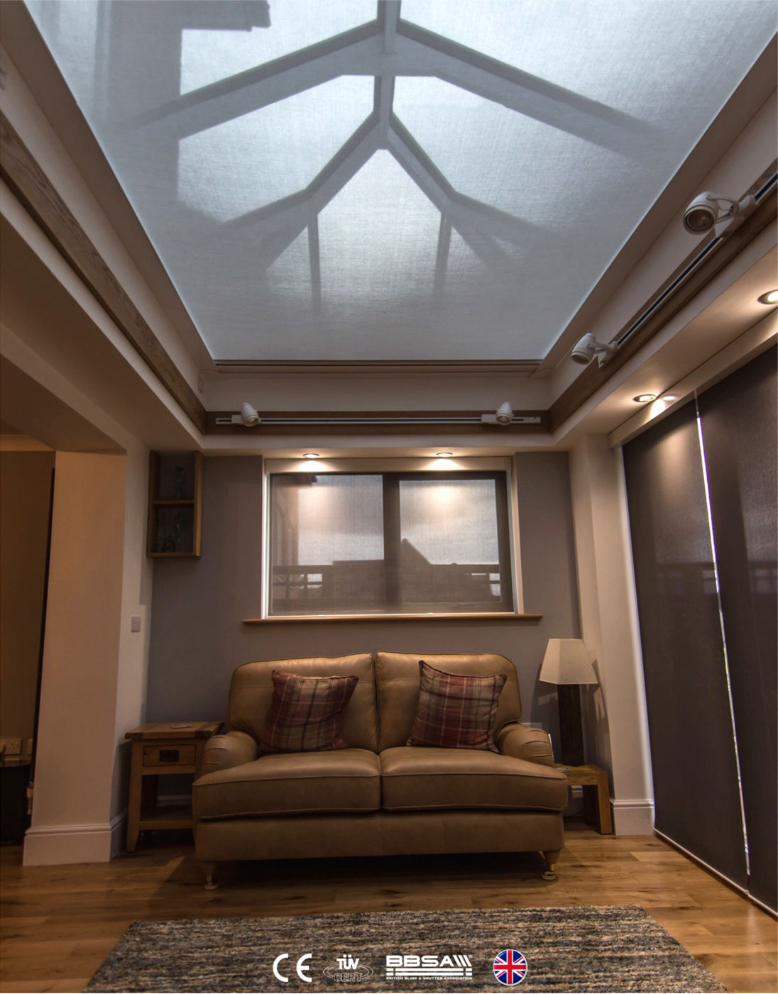 Roof Lantern Blind Anti-Glare Fabric